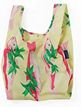 BAGGU Small Reusable Shopping Bag, Ripstop Nylon Grocery Tote or Lunch Bag, Whole Fish