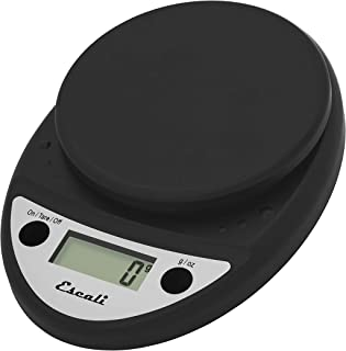 Escali Primo P115CH Precision Kitchen Food Scale for Baking and Cooking, Lightweight and Durable Design, LCD Digital Display, Lifetime ltd. Warranty, Black