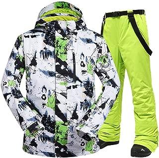 BOREURA Men's Waterproof Ski Jacket and Pants Set Outdoor Windproof Snowboard Mountain Snowsuit
