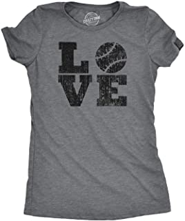 Womens Love Baseball Mama Funny Game Day Lover Cute T Shirt for Ladies