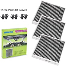 JDMON JD285 Cabin Air Filter Replacement for Toyota/Lexus/Subaru/Scion/RAV4 Included Premium Activated Carbon (3 PACK)