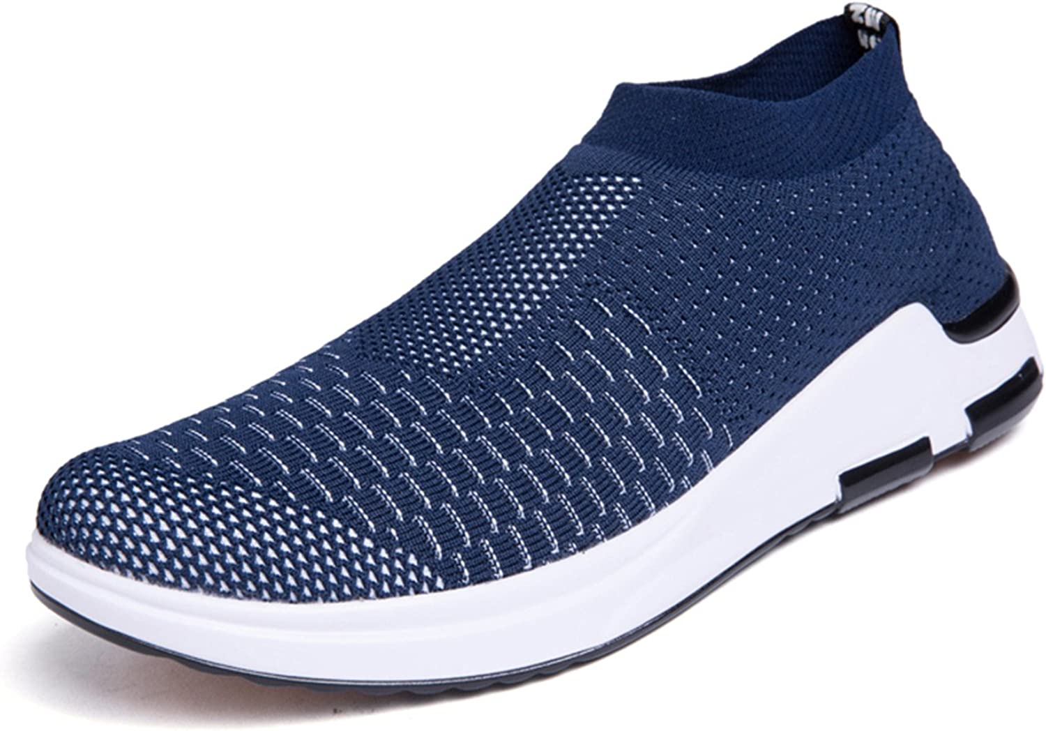 YALOX Men's Lightweight Breathable Running shoes Athletic Sneakers Fashion Casual Walking Slip On shoes
