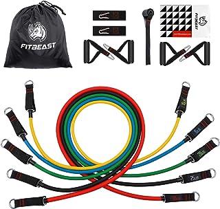 comprar comparacion Set de Bandas de Resistencia de FitBeast, bandas elásticas para entrenar con soporte de 100lbs, Kit de Bandas para Entrena...