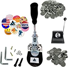 Button Maker Badge Making Machine - 58mm 2 ¼ inch 2.28 inch   Heavy Duty Circle Cutter Punch Press Machine   1000 Circle Button Parts - Metal Badge Button Shell & Pin Back   All-in-One Complete DIY