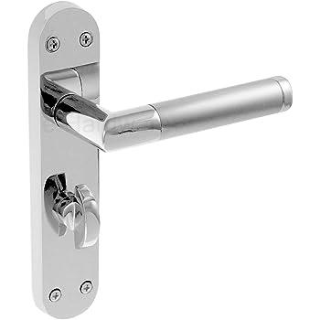 Lever on Rose Door Handles Polished Chrome// Satin Dual JEDO Kontrax CAPRI JV860