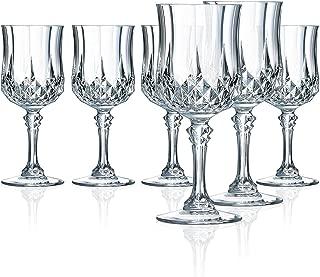 Elegant Goblet Glasses, Set of 4 Stemmed Drinking Glasses for Water, Juice, Beer, Wine, and Cocktails