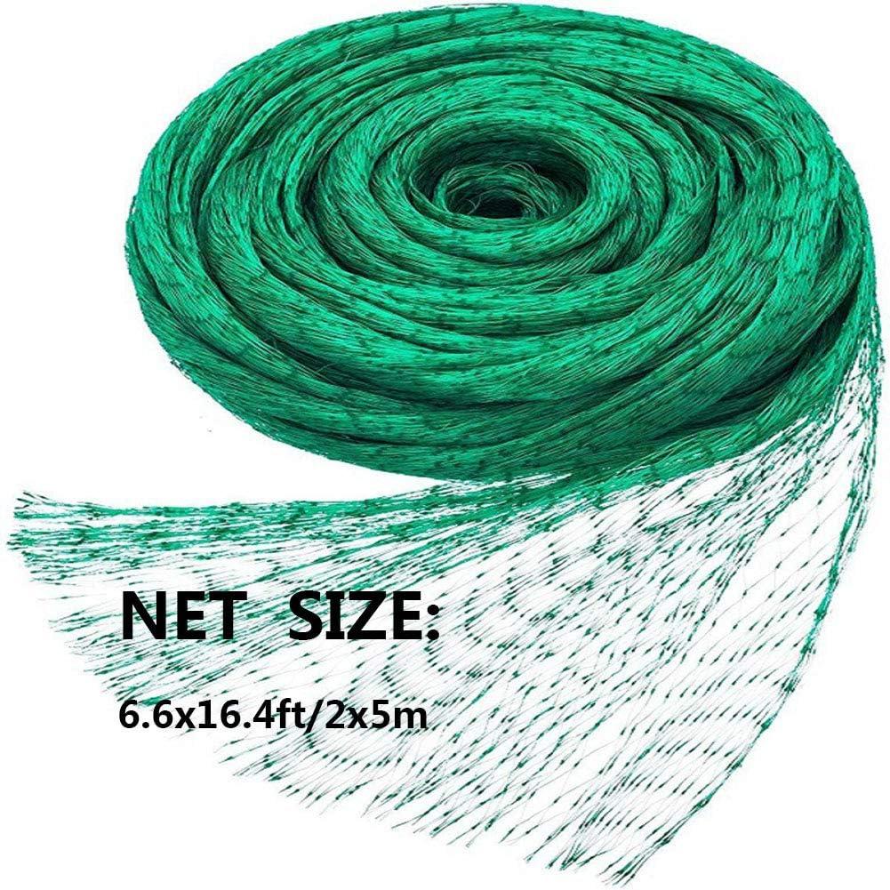 VEOAY 6.6X16.4ft Protection Net Green Anti-Bird Net Garden Plant Fruits Fencing Mesh Garden Plant Netting Green Garden Bird Net,Green,Net only