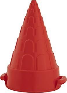 Superio Snow Tower Mold Cone Shape & Sand Mold Castle Tower Red 10 Inch - Kids Durable Outdoor Toys Winter Snow Fort, Snow...