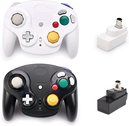 $36 » Poulep Classic 2.4G Wireless Controllers Gamepad with Receiver Adapter for Wii U Gamecube NGC GC (Black and White)