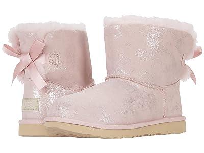 UGG Kids Mini Bailey Bow II Shimmer (Little Kid/Big Kid) (Pink Cloud) Girls Shoes