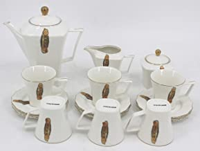 Reem Porcelain Tea Set 17 PCS,White - Dinnerware Sets
