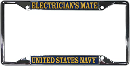Desert Cactus US Navy Electrician's Mate Enlisted Rating Insignia License Plate Frame for Front Back of Car Officially Licensed United States