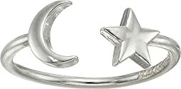 Moon and Star Adjustable Ring