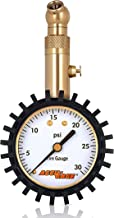 Accu-Gage Low Pressure Tire Gauge with Protective Rubber Guard, Angled Chuck, 30psi
