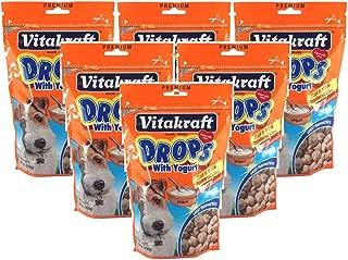 VitaKraft 6 Pack of Drops with Yogurt Dog Treat Snacks, 8.8 Ounces Per Pack