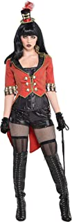 AMSCAN Vintage Cropped Red Ringmaster Jacket Freak Show Halloween Costume Accessories for Women, One Size
