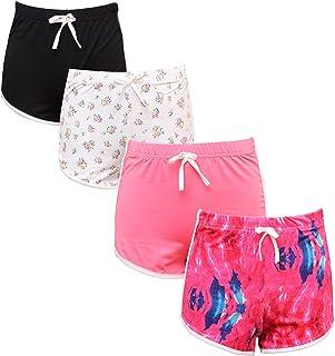 4PCS Girl Shorts Casual Shorts Workout Shorts Fashion Dolphin Shorts for Girls