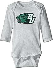 DW Infant Binghamton University - BU Logo Long Sleeve Climb Clothes Romper White