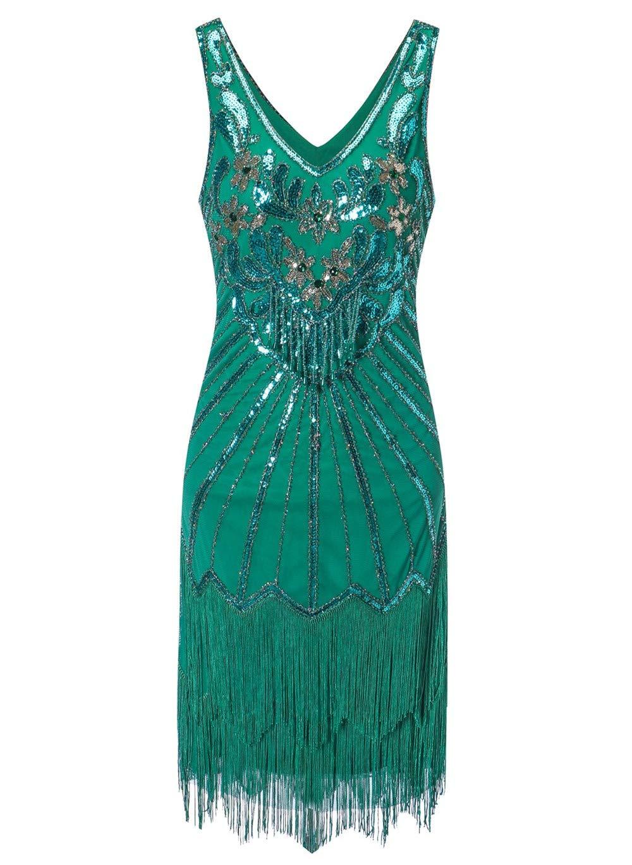 Available at Amazon: Women's Flapper Dresses 1920s V Neck Beaded Fringed Dress Dress Great Gatsby Dress