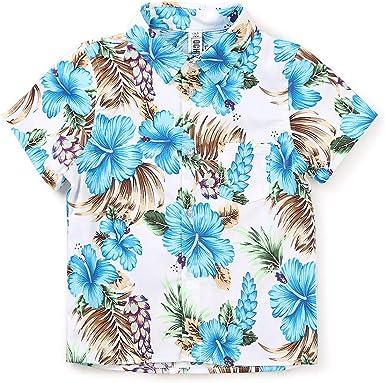 Camisa hawaiana de manga corta con botones y flamencos ...