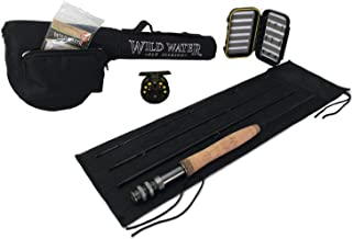 """Wild Water 3 wt 5'6"""" Rod Fly Fishing Complete Starter Package"""