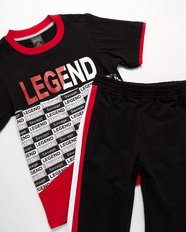 Short Sleeve T-Shirt and Jogger Sweatpants Quad Seven Boys Activewear Set