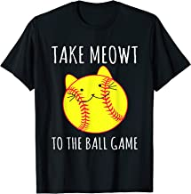 Cute and Funny Take Meowt To The Ball Game T-Shirt