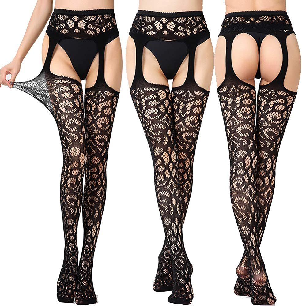 Zerolove 6 Pieces Stockings Women's Sexy Pantyhose Patterned Hight Waist Tights
