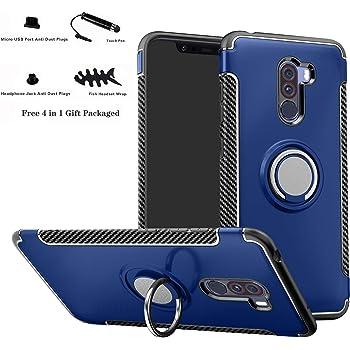 Labanema Xiaomi Pocophone F1 Funda, 360 Rotating Ring Grip Stand ...