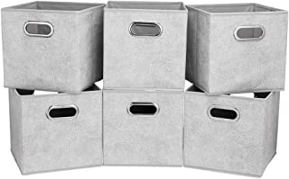 HSDT Boîte De Rangement, Gris | Point Blanc, Pliable, Tissu, 33x33x33cm, Avec 2 Poignées En Métal, Compatible Avec Le Gest...