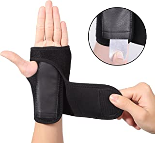 EXski Carpal Tunnel Wrist Brace Removable Hand Support Brace Adjustable Strap for Arthritis Sprains Strains Right and Left Hand 1 Piece