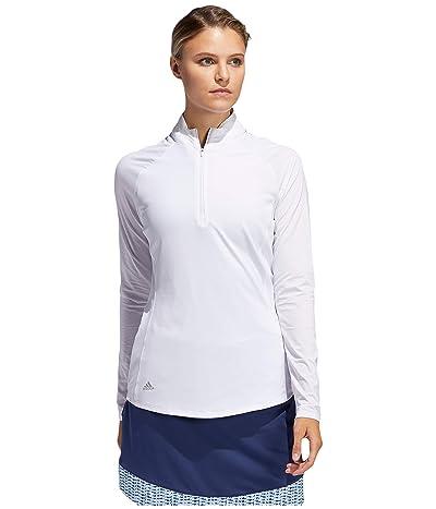 adidas Golf Solid UPF Polo Shirt (White) Women