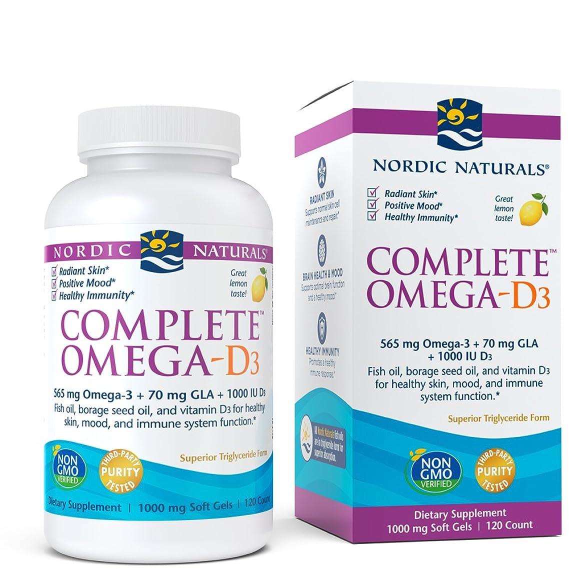 Nordic Naturals - Complete Omega-D3, Additional Bone, Mood, and Immune Support, 120 Soft Gels