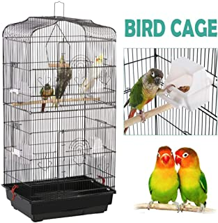 YAHEETECH 36-inch Hanging Medium Parakeet Bird Cages for Parakeets Finches Canaries..