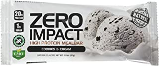 VPX Zero Impact High Protein Mealbar, Cookies & Cream, 12 Count