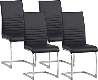 Albatros chaise cantilever BURANO Lot de 4 chaises, noir, testé par SGS
