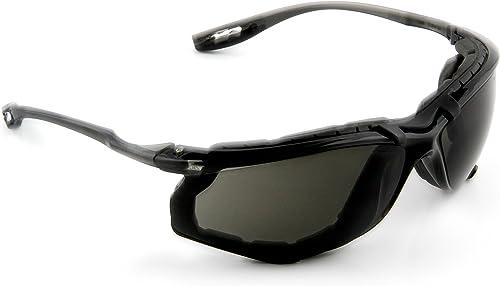 3M Safety Glasses, Virtua CCS, 1 Pair, ANSI Z87, Anti-Fog, Gray Lens, Black Frame, Corded Ear Plug Control System, Re...