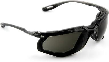 3M Safety Glasses, Virtua CCS, 1 Pair, ANSI Z87, Anti-Fog, Gray Lens, Black Frame, Corded Ear Plug Control System, Removable Foam Gasket