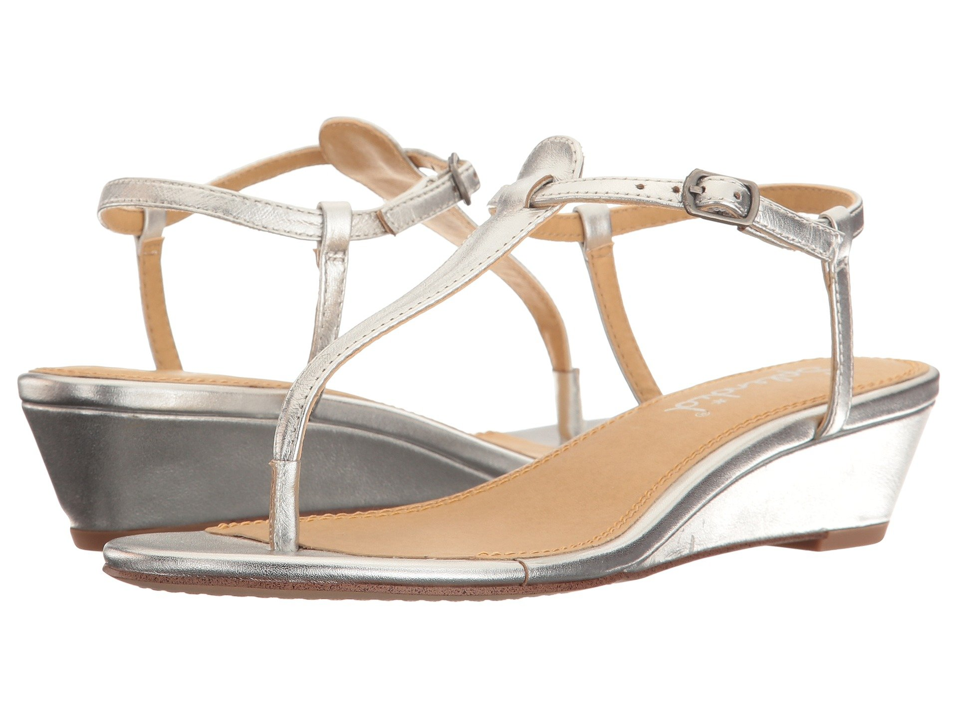 SPLENDID Swain T-Strap Wedge Sandal in Silver