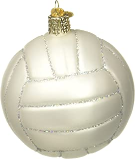 Old World Christmas Ornaments: Volleyball Glass Blown Ornaments for Christmas Tree (44022)