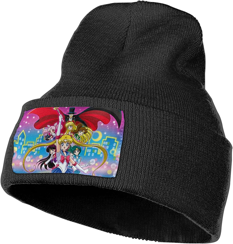 BLESS LINEN Anime Sailor Moon Men Women Printed Hat Knit Cuff Skull Cap Beanie Cap Daily Beanie Hat