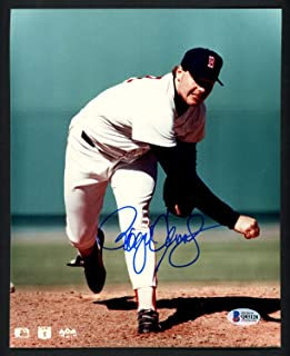 Roger Clemens Autographed 8x10 Photo Boston Red Sox Beckett BAS Q03128