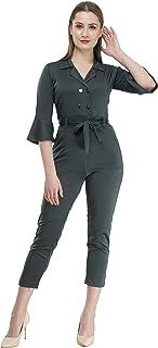 Neysa Women's Georgette Solid Jumpsuit