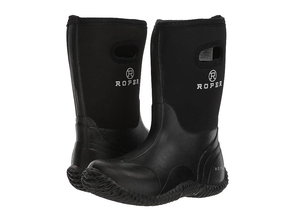 Roper Kids Barnyard Boot (Toddler/Little Kid) (Black Rubber/Neoprene) Kids Shoes