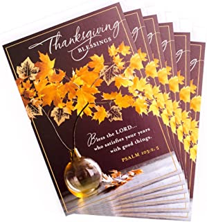 Hallmark Pack of Thanksgiving Cards, Fall Wreath (6 Cards with Envelopes)