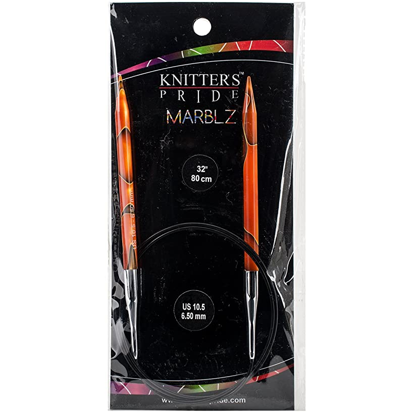 Knitter's Pride KP710088 10.5/6.5mm Marblz Fixed Circular Needles, 32