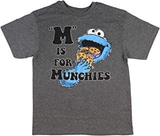 Sesame Street Cookie Monster M Is For Munchies Boy's T-Shirt