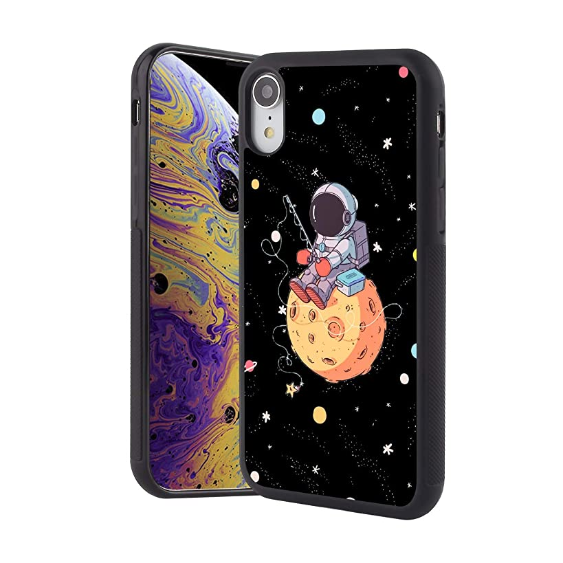 ZSTVIVA Tire Hard PC Back Case Astronaut Fishing Phone Cover Compatible with iPhone Xr Shockproof Anti-Slip Protective Case
