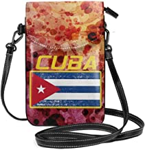 WAUKaaa Cuba Flag Leather Cell Phone Purse Holder Wallet Functional Multi Pocket For Women