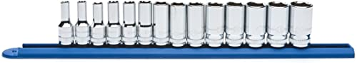 """popular GEARWRENCH 14 Pc. wholesale 3/8"""" Drive 6 Point Mid-Length Socket Set, Metric popular - 80554S online"""